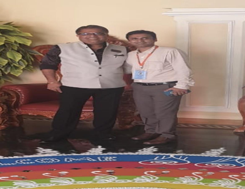With Mr. Santosh Nair